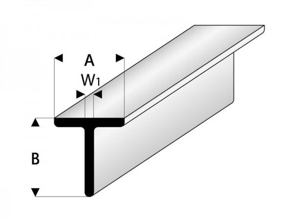 asa t profil 7x7x1000 mm asa profile material kleben cfk. Black Bedroom Furniture Sets. Home Design Ideas