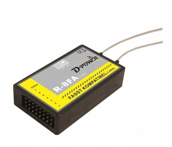 2.4 GHz Empfänger Futaba FASST kompatibel D-Power R-4FA